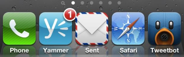 Five icon dock iPhone 4s