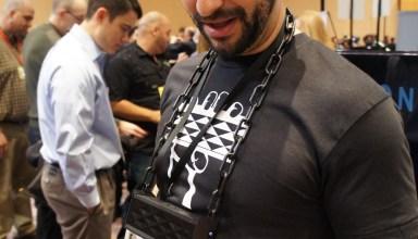 Jawbone Jambox worn around the neck