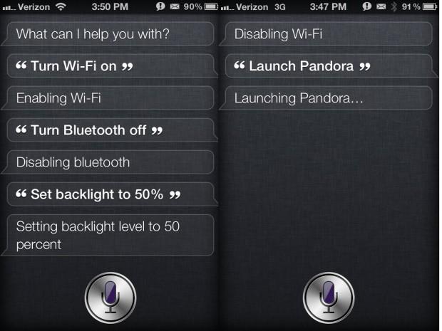 Siri Toggles Settings on iPHone 4S