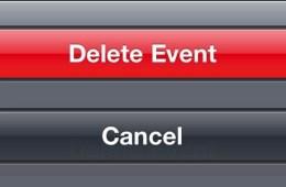 delete event on iPhone - 5
