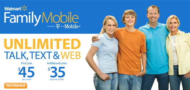 Walmart Family Mobile Plan now with Unlimited Web