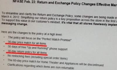 Best Buy new return policy