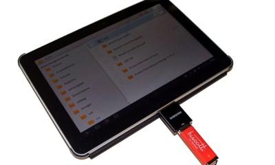 Galaxy Tab with USB Adapter