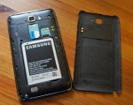 Galaxy Note with Back Cover Off