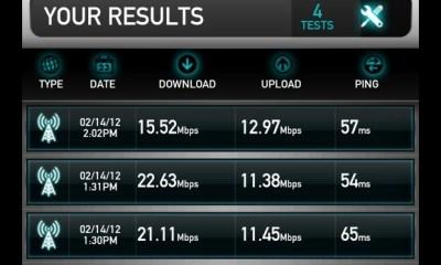 Galaxy Note LTE Speedtest