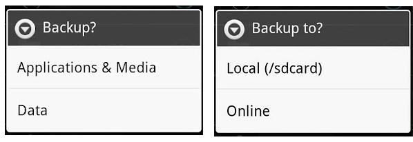 MyBackup Options