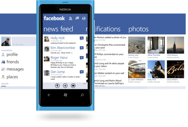 Windows Phone Facebook app