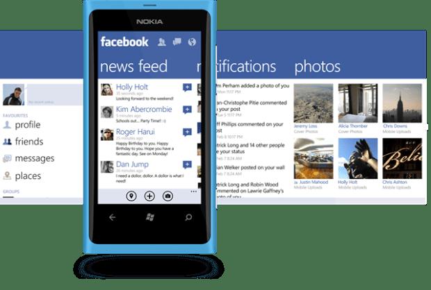 Windows Phone Facebook app