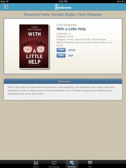 Bluefire Reader - Feedbooks book