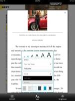 Nook - Magazine Article View Customization options
