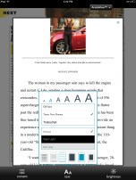Nook - Magazine Article View Customization options