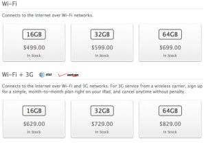 iPad 3 prices should remain the same