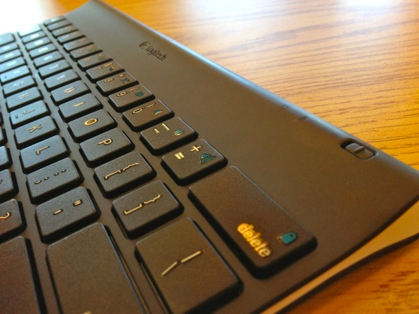 logitech tablet keyboard has a great feel