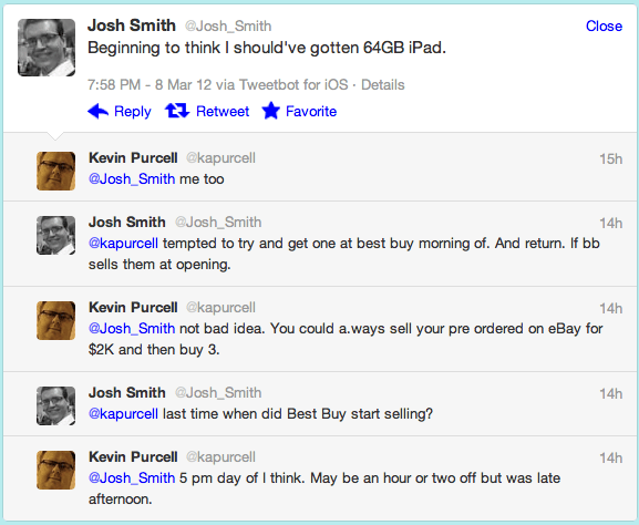 My conversation with @Josh_Smith on Twitter