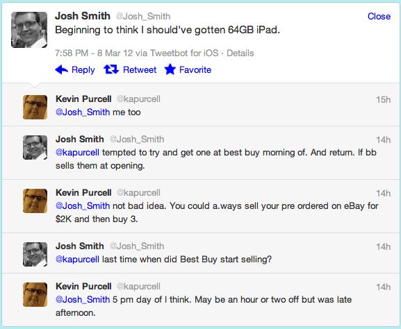 My conversation with @Josh_Smith on Twitter