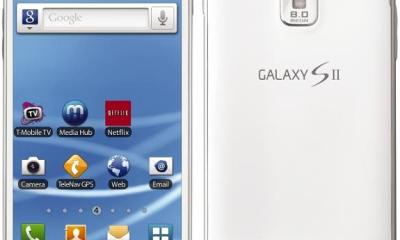 T-Mobile white Samsung Galaxy S II