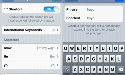iPhone Keyboard Shortcuts