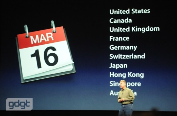 New iPad Release Date: March 16 in U.S., Germany, Japan and U.K.