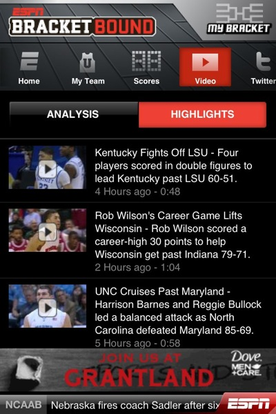 ESPN Bracket Bound video highlights