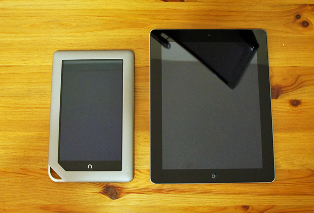 Nook Tablet and iPad 3rd Generation