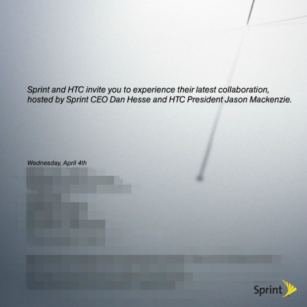 HTC and Sprint Announcing Something on April 4th