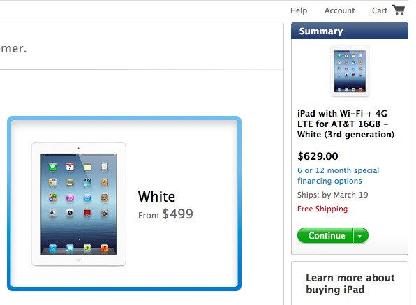white 4g lte ipad ship dates slip
