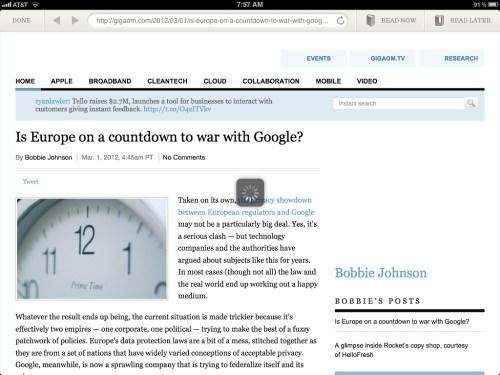 Readability Web View