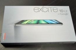 Excite 10 LE Unboxing