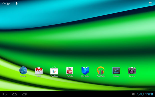 Excite 10 LE Home Screen