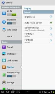 Galaxy Tab 2 Settings