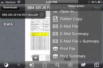 Google Drive iPhone App - editing