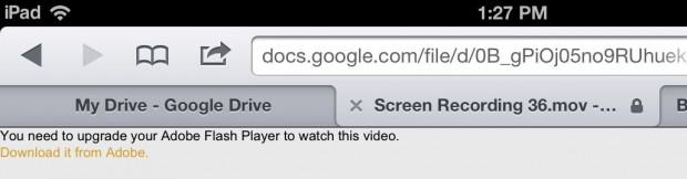 Google Drive iPhone iPad - Flash