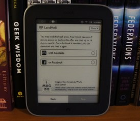 Nook Simple Touch with Glowlight - LendMe