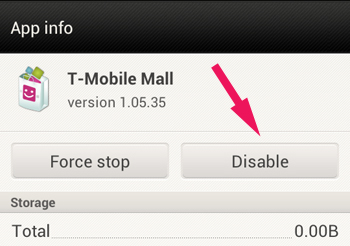 Disable App