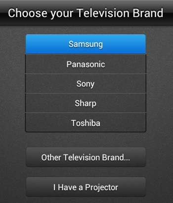 Smart Remote Setup - Choose Your TV Brand