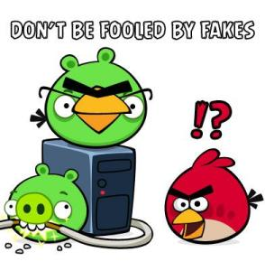 fake angry birds space
