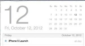 iPhone 5 release date October