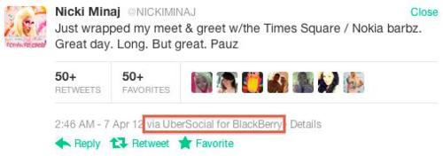 Whoops: Nicki Minaj Promotes Windows Phone Using a BlackBerry