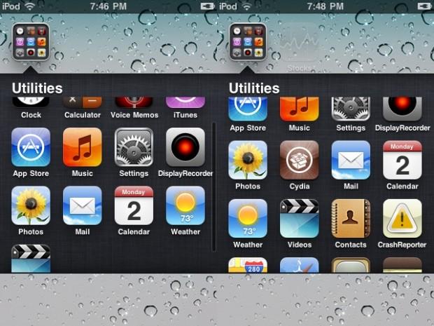 no app folder limits iOS 6 - infinifolders
