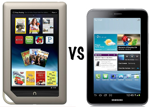 Nook Tablet vs Galaxy Tab 2 7.0