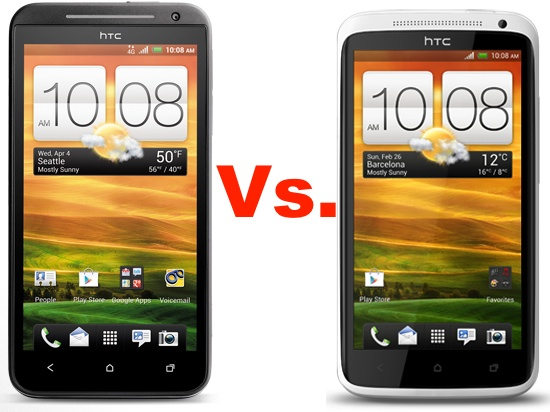 HTC EVO 4G LTE vs. HTC One X