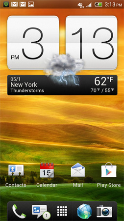 HTC One X Home Screen