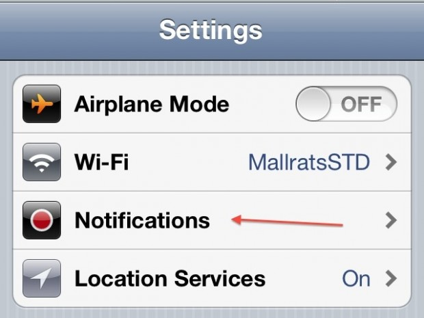 Remove app from notification center iPhone