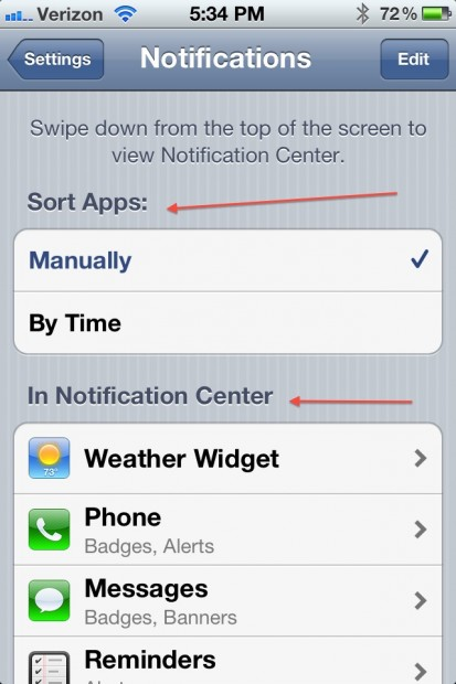 Remove app from notification center iPhone.jpeg 3