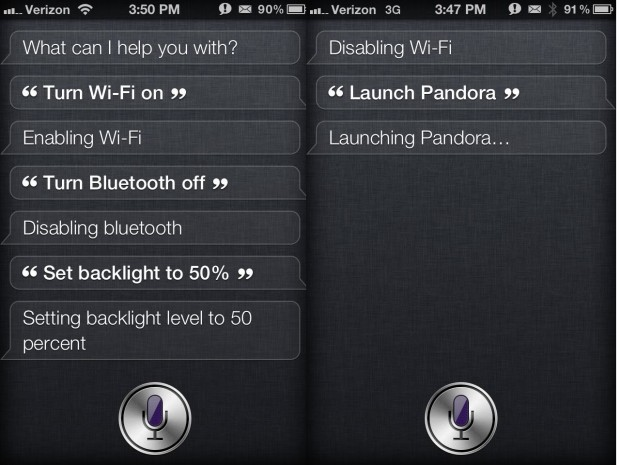 Siri iOS 6 launch apps