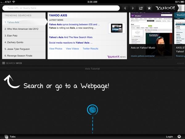 Axis on the iPad