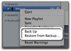 backup iPhone 4S jailbreak prep