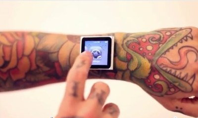 iPod nano watch with magnets