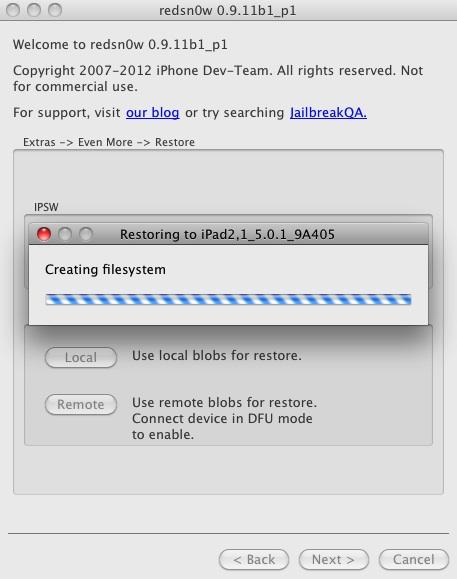 redSn0w iPhone 4s jailbreak downgrade