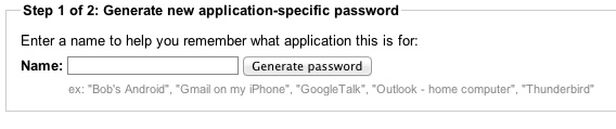 set up application specific passwords